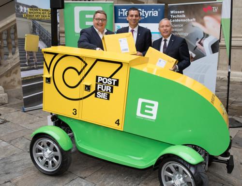 Österreich-Premiere: Autonomes E-Fahrzeug stellt Pakete im Alleingang zu!