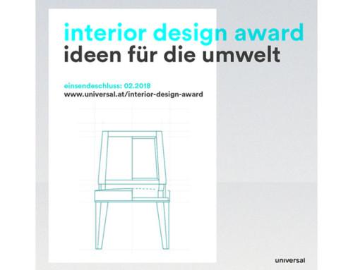 Universal Interior Design Award – Kreativ werden für die Nachhaltigkeit